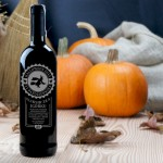 Zdjęcie produktu Eliksir zła - czerwone wino grawerowane na Halloween