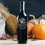 Zdjęcie produktu Boo!telka czerwonego wina grawerowana na Halloween