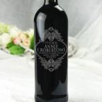Zdjęcie produktu Wino czerwone, grawerowane z okazji ślubu