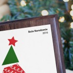 Zdjęcie produktu Wesołych Świąt! - dyplom świąteczny grawerowany na drewnianym podkładzie