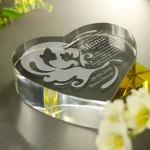 Zdjęcie produktu Wishes - grawerowany kryształ w kształcie serca z życzeniami na różne okazje