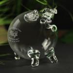 Zdjęcie produktu Piggy - grawerowana świnka-skarbonka z personalizacją na dowolnąokazję