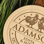 Zdjęcie produktu Rooster - personalizowana kuchenna deska z rustykalnym grawerunkiem
