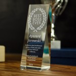 Zdjęcie produktu Best Boss Ever - grawerowana statuetka z personalizacją w podziękowaniu dla szefa