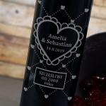 Zdjęcie produktu Walentynka - grawerowane wino z presonalizacją dla ukochanej osoby