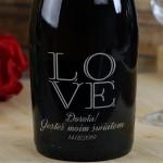Zdjęcie produktu Love - grawerowane wino musujące Prosecco z personalizacjądla ukochanej osoby
