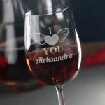 Zdjęcie produktu Wings Of Love - personalizowany kieliszek do wina dla ukochanej osoby