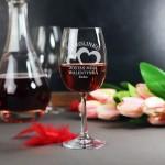 Zdjęcie produktu Dwa Serca - personalizowany kieliszek do wina dla ukochanej osoby