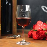 Zdjęcie produktu Dopasowani - zestaw grawerowanych kieliszków do wina, dla pary
