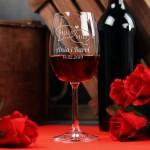 Zdjęcie produktu Moja i Mój - grawerowany kieliszek do wina dla zakochanych