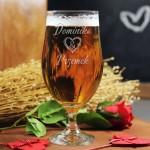 Zdjęcie produktu Grawerowany pokal do piwa i koktajli z personalizacją dla zakochanych