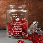 Zdjęcie produktu Słodkie Życie - grawerowany słoik na żywność z personalizacją dla pary