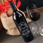 Zdjęcie produktu Dzień Ślubu - grawerowane wino z personalizacją dla pary z okazji Ślubu