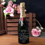 Zdjęcie produktu Marry Me - grawerowany szampan Moët & Chandon z personalizacją na zaręczyny