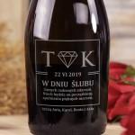Zdjęcie produktu Diament - grawerowane wino musujące Prosecco z personalizacją dla Młodej Pary