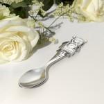 Zdjęcie produktu Grawerowana łyżeczka ze srebra 925 z misiem dedykowana na Chrzest