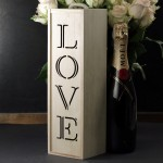 Zdjęcie produktu Gift - drewniana skrzynka do wina z napisem LOVE