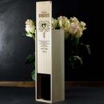 Zdjęcie produktu Kochani Rodzice - drewniana skrzynka na wino z personalizacją dla rodziców