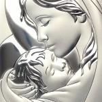 Zdjęcie produktu Madonna - srebrny obrazek z personalizacją na Komunię
