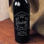 Zdjęcie produktu Zostań Świadkową - grawerowane wino z personalizacją dla Świadkowej