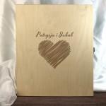 Zdjęcie produktu Serce Młodej Pary - grawerowany zestaw z personalizacją na Ślub