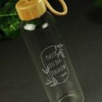 Zdjęcie produktu Plastic free - grawerowana szklana butelka z personalizacją