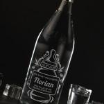 Zdjęcie produktu Narodzinowa Butla - grawerowana wódka Biały Bocian z personalizacjąna pępkowe