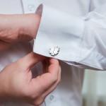Zdjęcie produktu Ręcznie wykonane spinki do mankietów z wygrawerowanym eskulapem