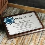 Zdjęcie produktu Dyplom Policjanta - grawerowany dyplom z personalizacją w podziękowaniu dla Policjanta