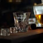 Zdjęcie produktu Toast Za Tatę - grawerowana szklanka do whisky z personalizacją dla Taty
