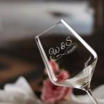 Zdjęcie produktu Kieliszek do wina z personalizacją dla pary z okazji ślubu 490ml
