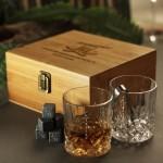 Zdjęcie produktu Najlepszy Świadek - grawerowany zestaw do whisky z dwiema szklankami