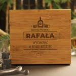 Zdjęcie produktu Skrzynia Zwątpienia - personalizowany zestaw do whisky na wieczór kawalerski