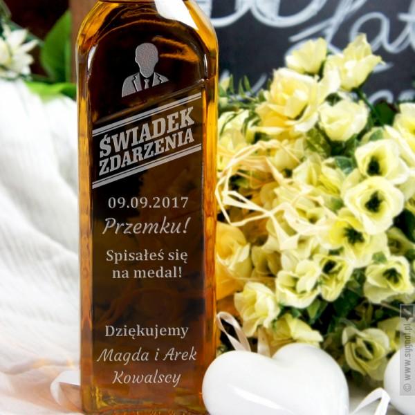 Świadek Zdarzenia - grawerowana whisky Johnnie Walker - podziękowanie dla świadka