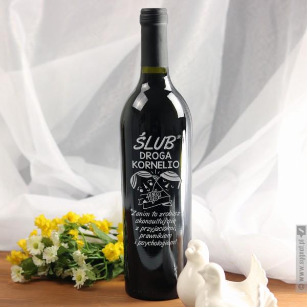 Przedślubna Rada - grawerowane wino z personalizacją