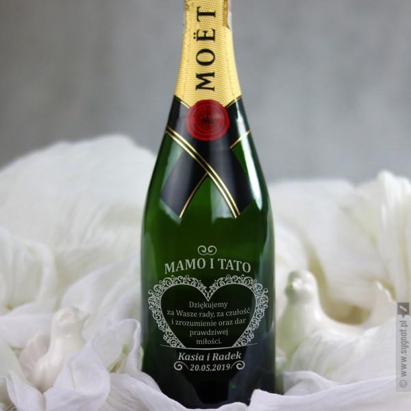 Od Serca - grawerowany szampan Moët & Chandon z personalizacją