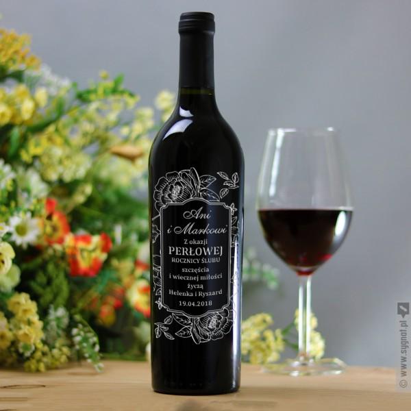 PerLove - grawerowane wino z personalizacjąz okazji rocznicy ślubu
