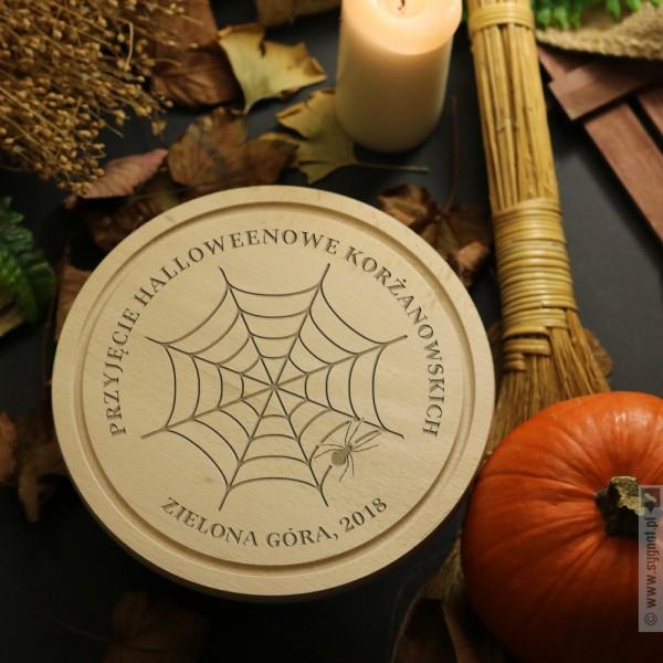 Spider - grawerowana deska do krojenia na Halloween