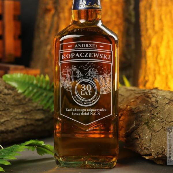 Spokojna Przystań - grawerowana whisky Ballantine's z okazji przejścia na emeryturę