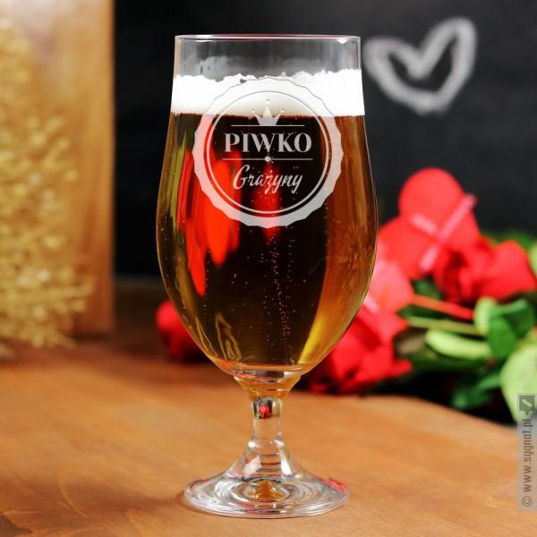 Royal Beer - grawerowany pokal do piwa z personalizacją