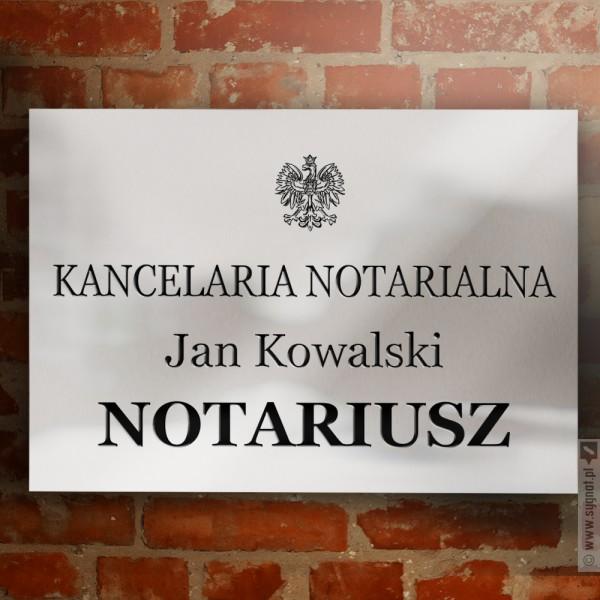 Szyld Notariusza / Tablica dla Kancelarii