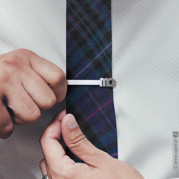 Modern - personalizowana spinka do krawata ze srebra 925