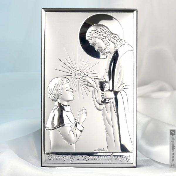 Chłopiec z Jezusem - personalizowana pamiątka I Komunii Świętej dla chłopca