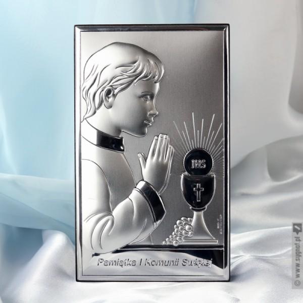 Personalizowana pamiątka I Komunii Świętej dla chłopca