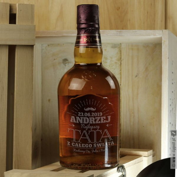 Dla Najlepszego Taty - grawerowana whisky Chivas Regal dla Taty