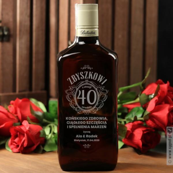 Urodzinowy Ballantine's - grawerowana whisky z personalizacją na urodziny