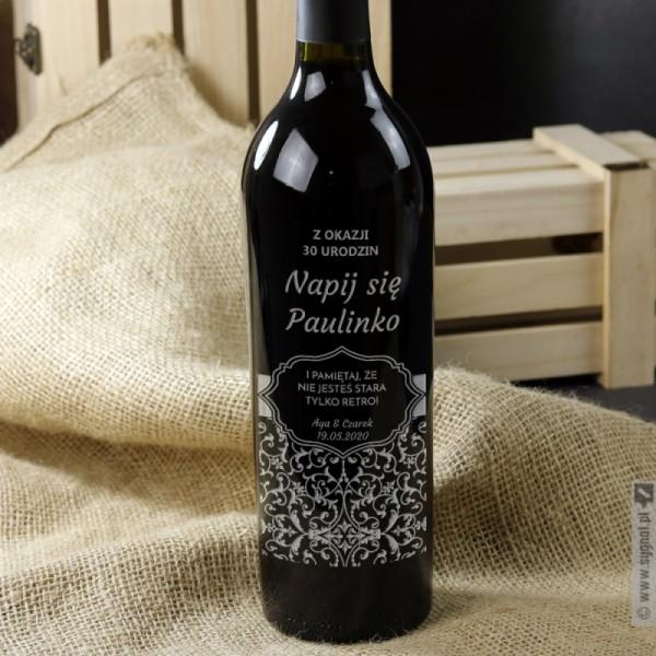Grawerowane wino z personalizacją na dowolną okazję
