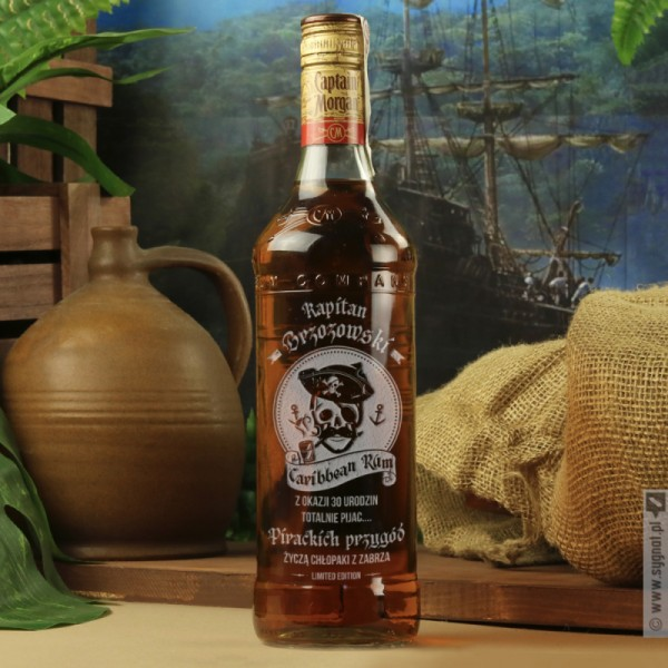 Captain - grawerowany rum Kapitan Morgan na urodziny