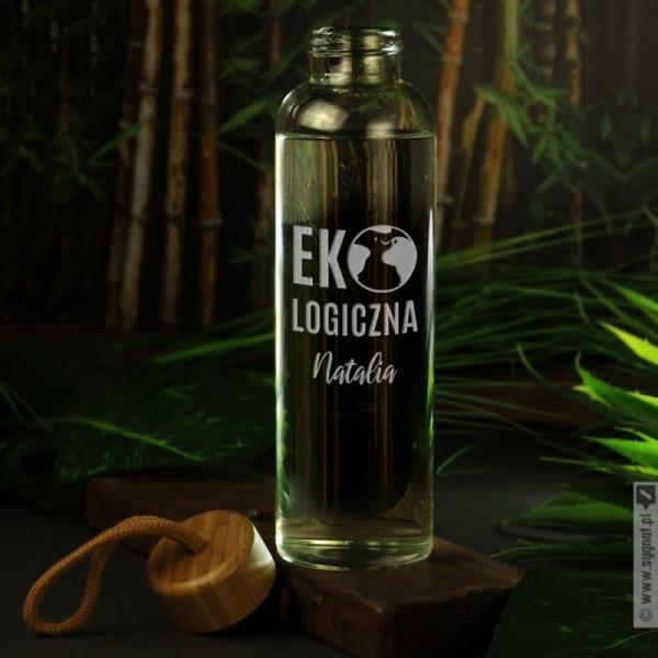 EKO - grawerowana butelka szklana z personalizacją