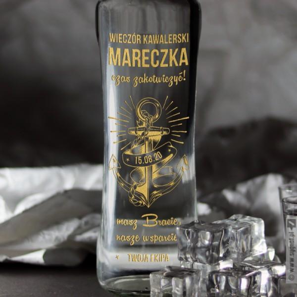 Zakotwiczony - grawerowana wódka z personalizacją na Wieczór Kawalerski